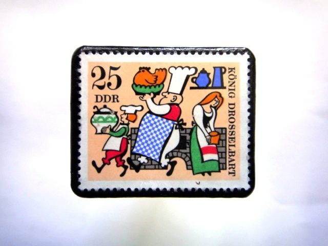 旧東ドイツ童話」切手ブローチ934