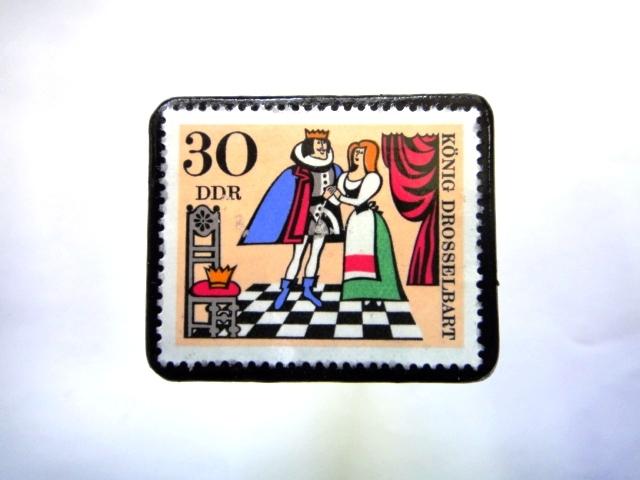 旧東ドイツ童話」切手ブローチ935