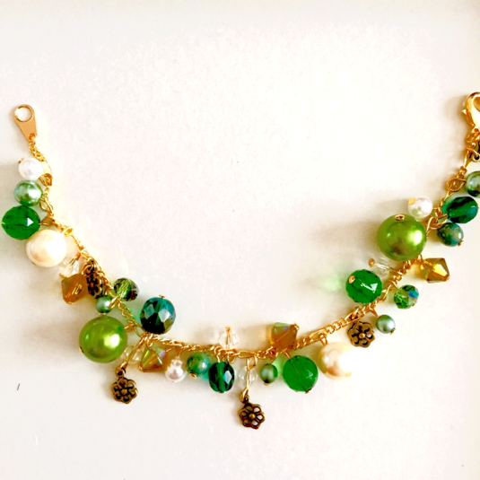 粒子ブレスレット(緑)