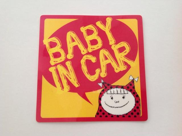 女の子 『BABY IN CAR』 ステッカー