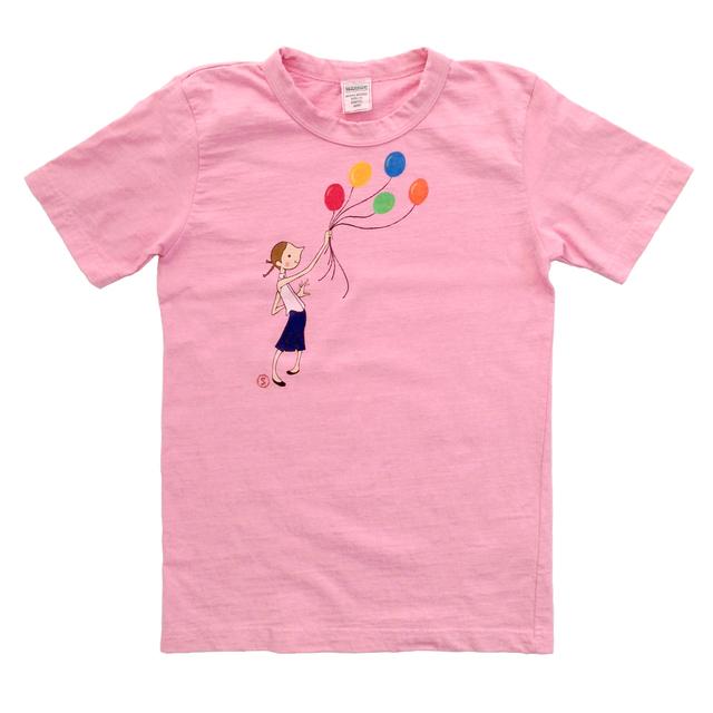 手描きイラストTシャツ《カーネーションピンク》