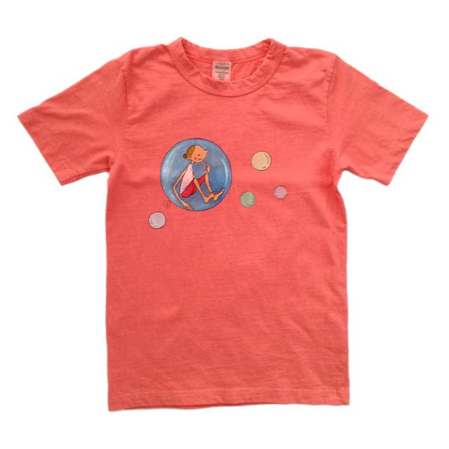 手描きイラストTシャツ《オレンジバーミリオン》