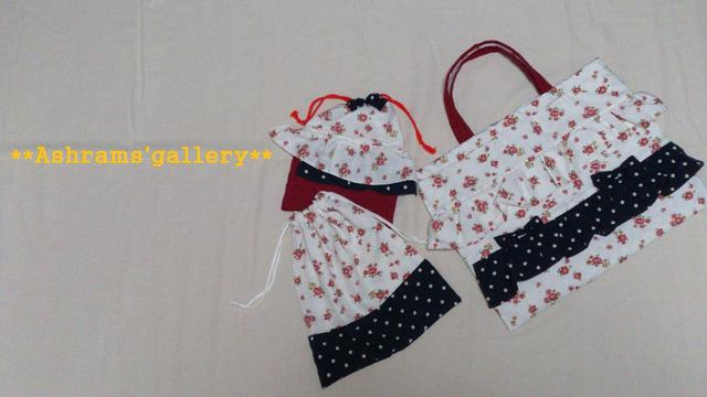 KIDS school bag 3set:Cath Kidston type