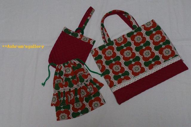KIDS school bag 3set:Northern Europe  〜TSUBAKI〜 type