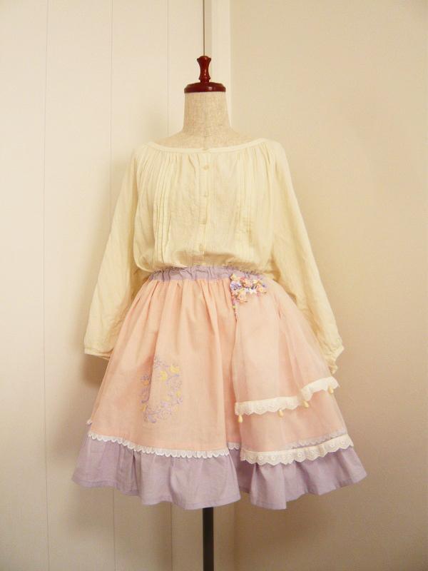 【SAIL】フラワーロリータスカート【¥6,000→¥5,000】
