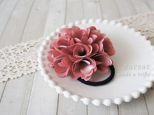 【販売終了】ふんわりお花*ポンポンヘアゴム