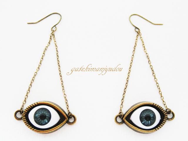 【1様ご予約品】青い瞳のピアス【イヤリング変更可】
