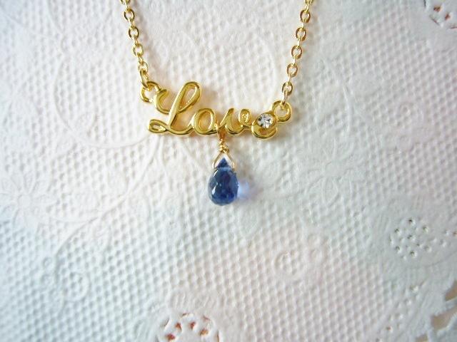 Love・AAAカイヤナイトネックレス(ブリオレットカット)(99)