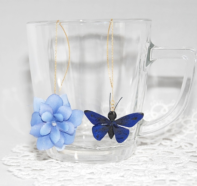 Flower and Butterfly【ブルー系】