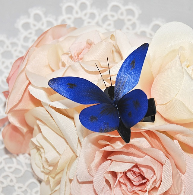 Lycaenidae【ブルー系R・ヘアクリップ】