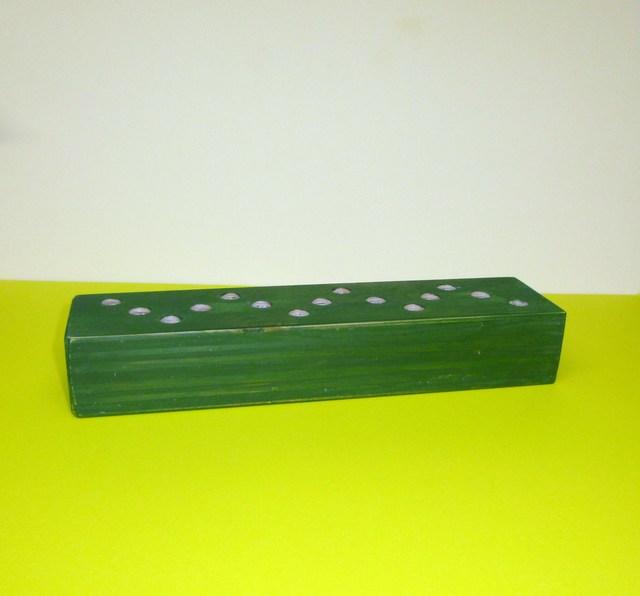 緑のバームクーヘン模様の鉛筆立て