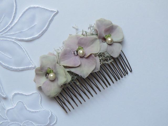 紫陽花のヘアコーム