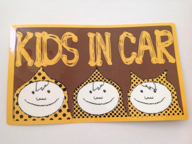 【再販】男3兄弟『KIDS IN CAR』ステッカー