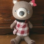 no.1864 Plaid Bear 【arisu1101さまオーダー品】