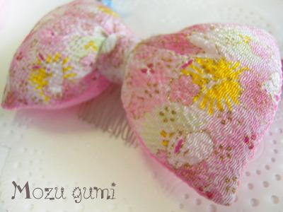 チリメンふっくらリボン(桜とうさぎ)