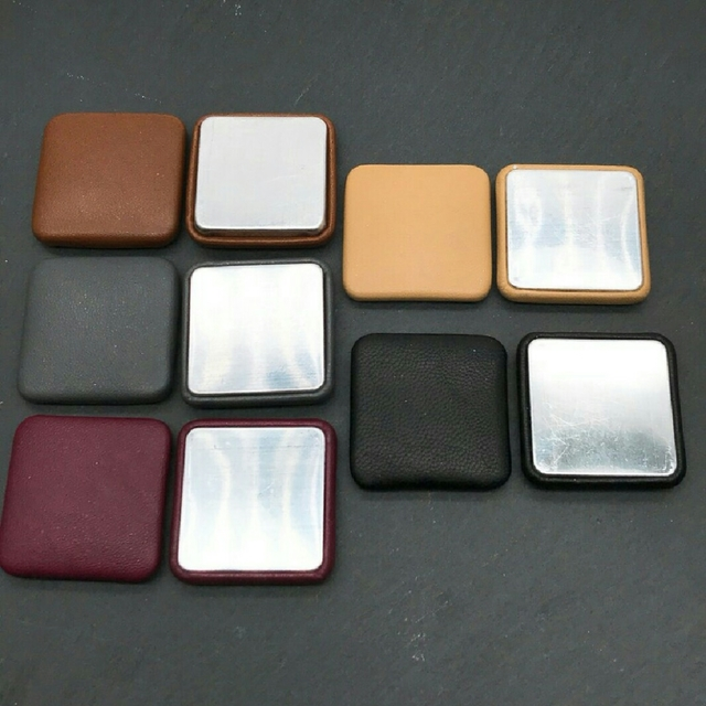 【cbtt512】【5色 各2個  計10個】fake leather big square cabochon