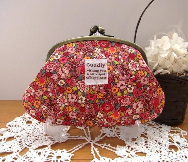 chocomama-12 様オーダー品*お花畑のような親子がま口財布(小)ピンク