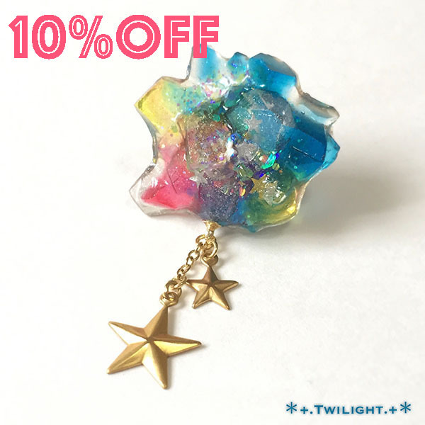 【10%OFF】「*+.Space jewelry+*」ピンブローチver03