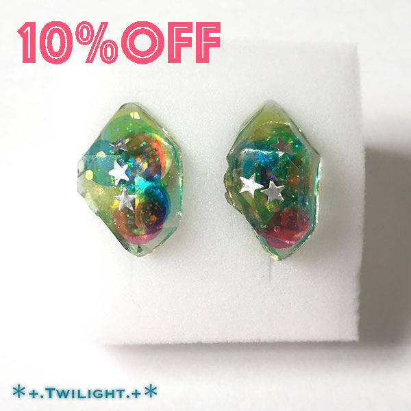【10%OFF】「*+.Space jewelry+*」イヤリングver07