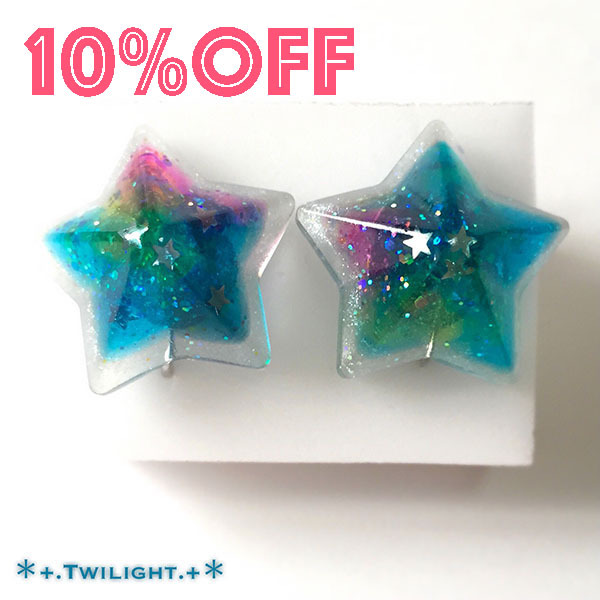 【10%OFF】「*+.Space jewelry+*」イヤリングver04