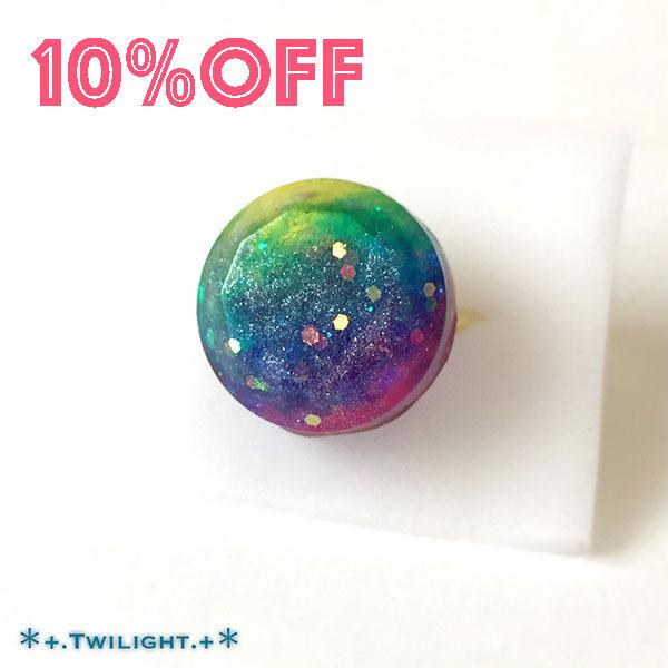 【10%OFF】「*+.Space jewelry+*」指輪ver07