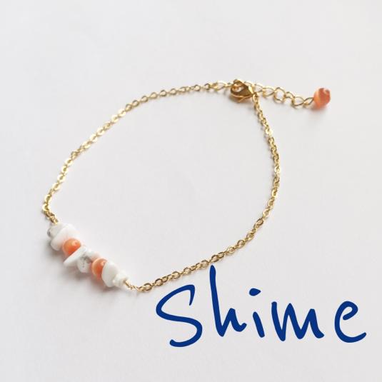 stone bracelet【white】