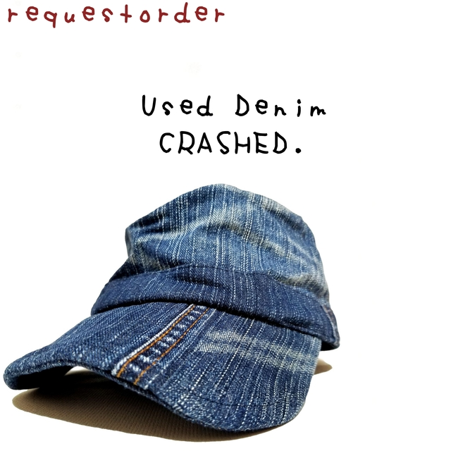 -requestorder-Used Denim Crashed Cap