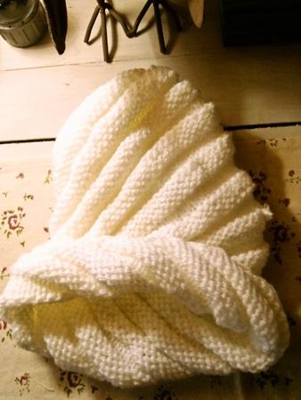エスカルゴニット帽[ホワイト]