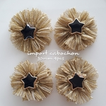 import cabochon star gold 30mm 4pcs