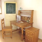 STUDY DESK pine three-piece set /  学習机3点セット