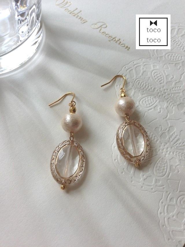 acrylic parts pierce/earring