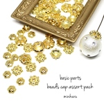 60 pcs) beads cap assort pack