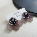 Butterfly*purple ピアス/イヤリング