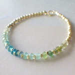 Sea Roman Glass Bracelet *14kgf*