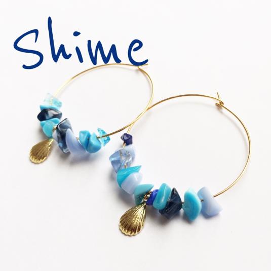 shell hooppierce【BLUE】