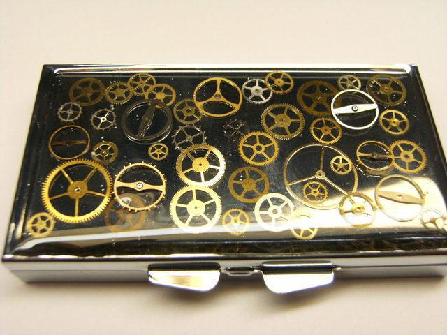 歯車ぐるぐるピルケース(角形ミラー付)