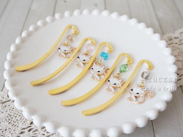 【販売終了】釣り目猫ちゃんのミニブックマーカー*栞