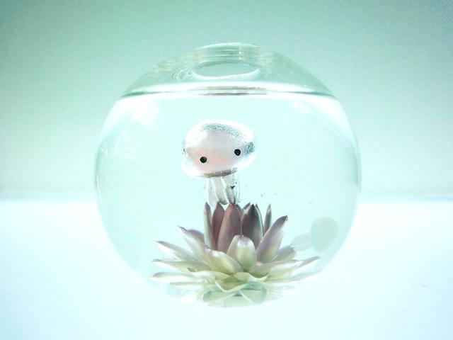 ぷちアクアリウム くらげちゃん★花とクラゲ ボール型 ?