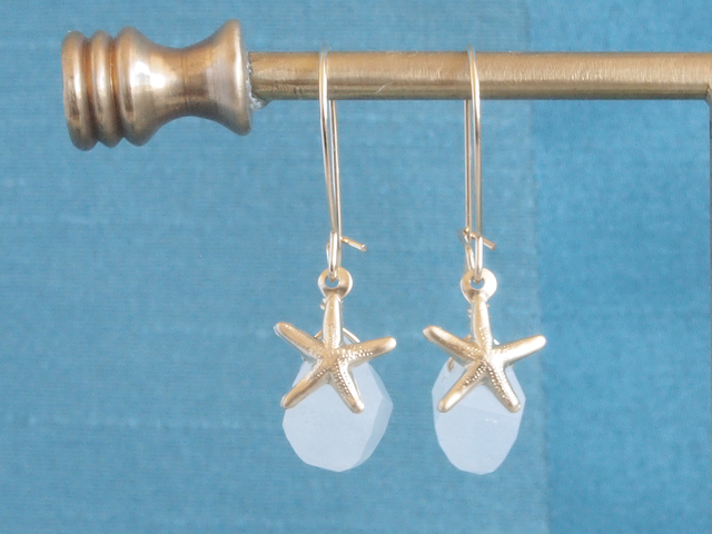 14KGF Monotone Marine Earrings WH