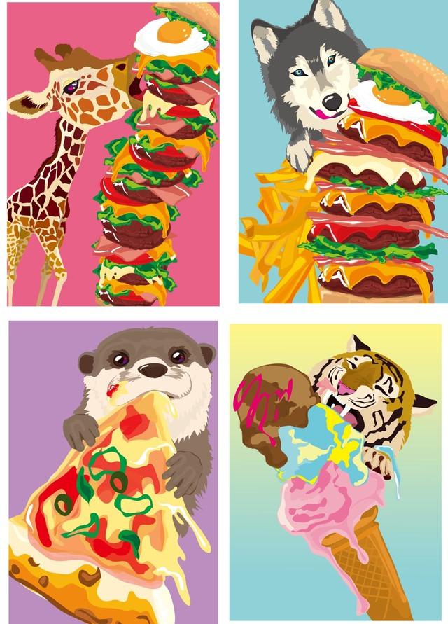 ぼくたちのごちそう Iphoneスマホケース おいしい食べ物とかわいい動物の
