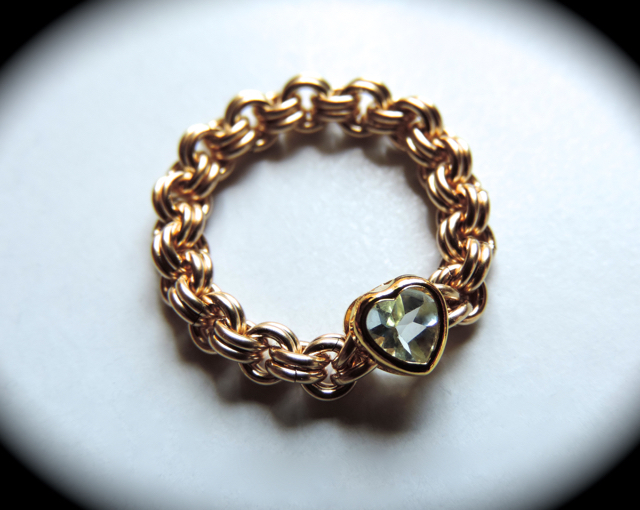 『 Transparent ( heart ) 』Ring by K14GF