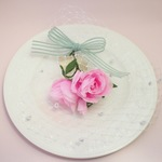 Rose ribbon headdress