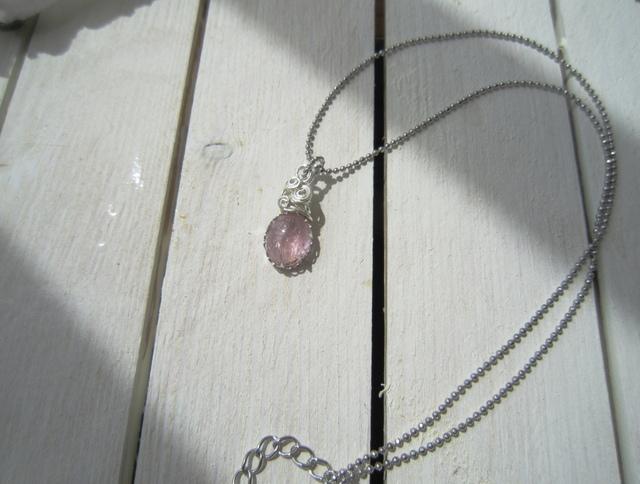 完売 ピンクトルマリンのネックレス