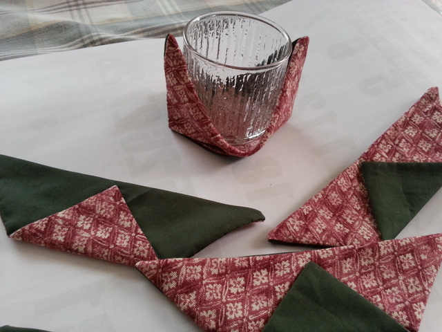 布製コースター5枚組