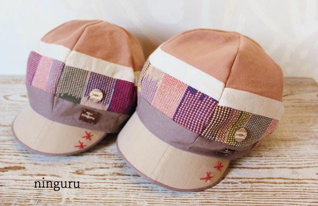 雅な手織り布のキャスケット