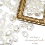 24pcs)whip cream pearl beads