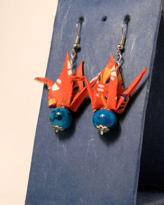 オリガミピアス鶴(Tsuru 10T3KAr)
