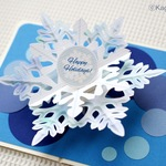雪のカード 【Snow Star】 (pop-up card)