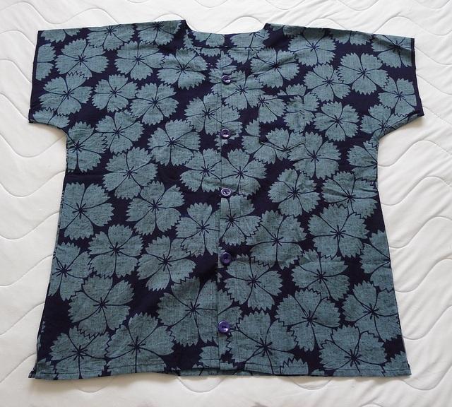 MINATOシャツ【M】紺・なでしこ