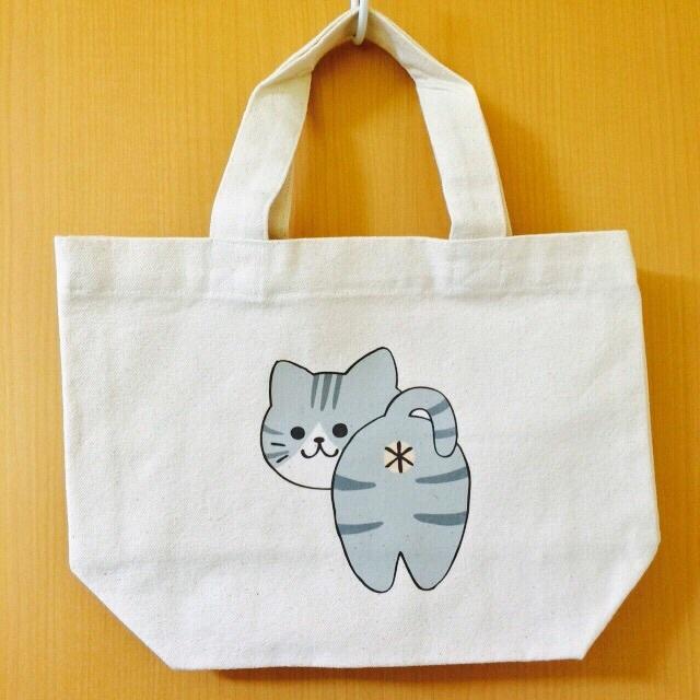 猫尻トート by kinako バッグ・財布・小物 バッグ | ハンドメイドマーケット minne(ミンネ)